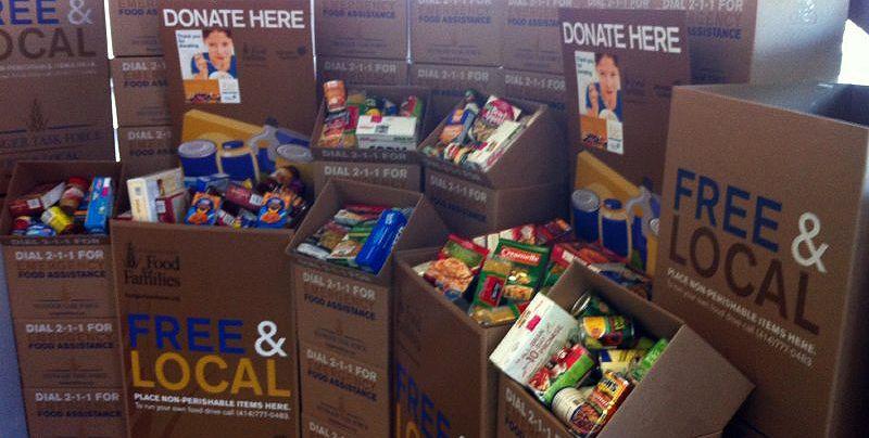 2017 food drive donation