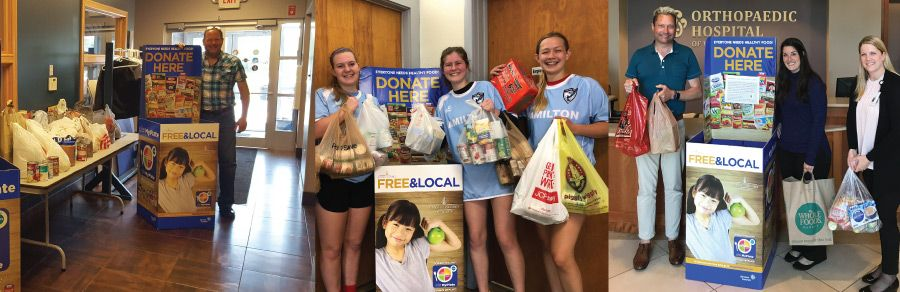 2018 food drive results